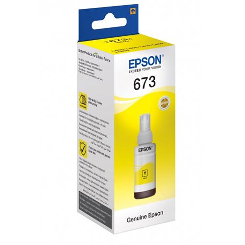 Купить Чернила Epson 673 Yellow для L800/L1800